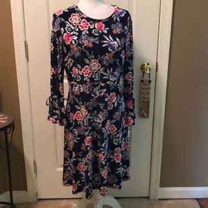 NWT Nine West navy blue and red dress